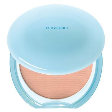 po compacto com protetor solar para pele oleosa shisheido pureness matifying