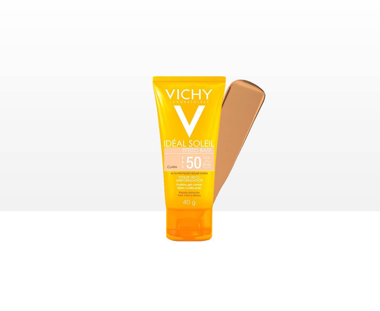 protetor solar com cor para pele oleosa da vichy